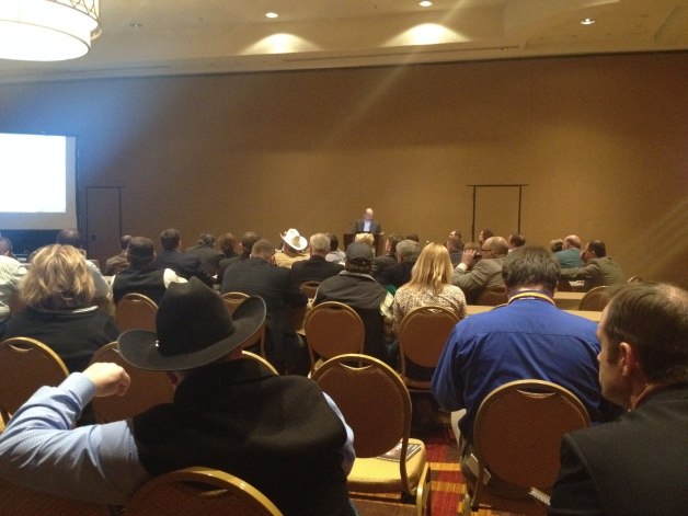 Cattle producers discuss issues during the Property Rights and Environmental Management Committee of National Cattlemen's Beef Association.